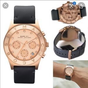 Marc Jacobs Rose Gold leather watch